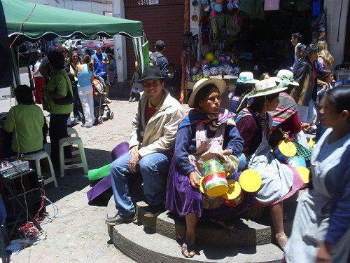 Market scene in Bolivia