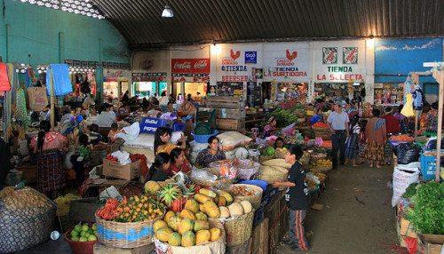 Open market in Guatemala
