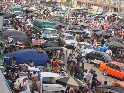 Open Market in Ivory Coast