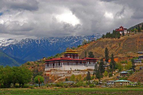 Cloud hidden site in Bhutan